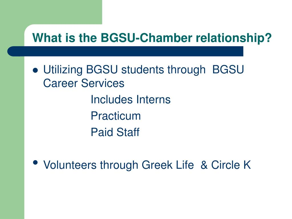 What is the BGSU-Chamber relationship?