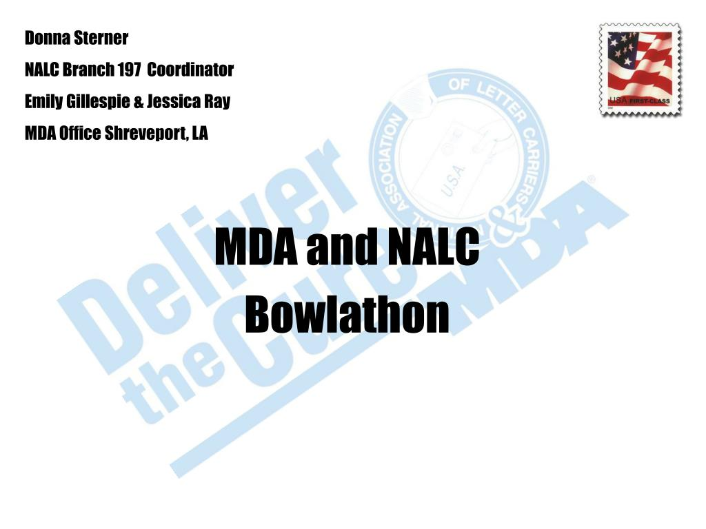 mda and nalc bowlathon l.