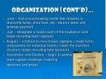 organization cont d