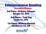 extemporaneous speaking53