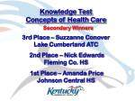 knowledge test concepts of health care14