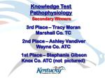 knowledge test pathophysiology16