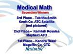 medical math27