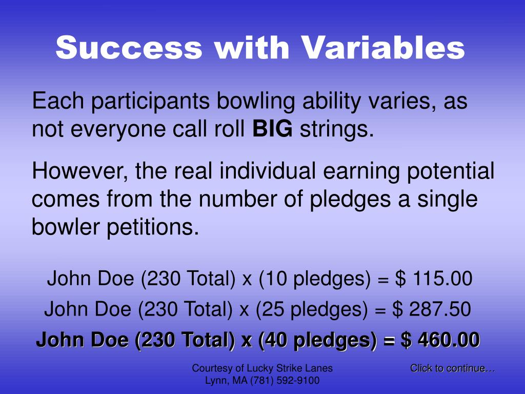 Success with Variables