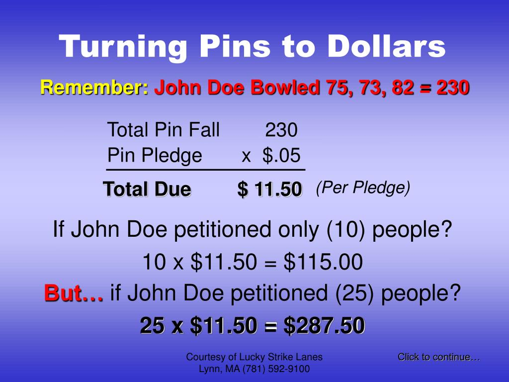 Total Pin Fall 230