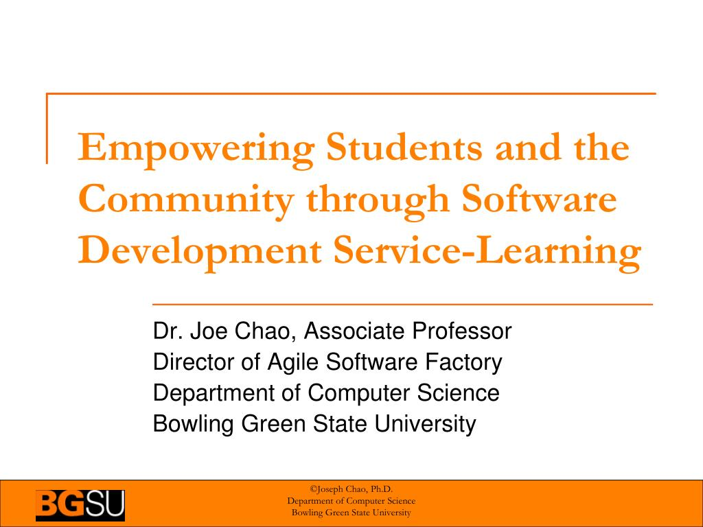 empowering students and the community through software development service learning l.