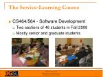 the service learning course