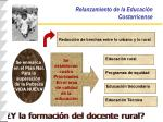 relanzamiento de la educaci n costarricense
