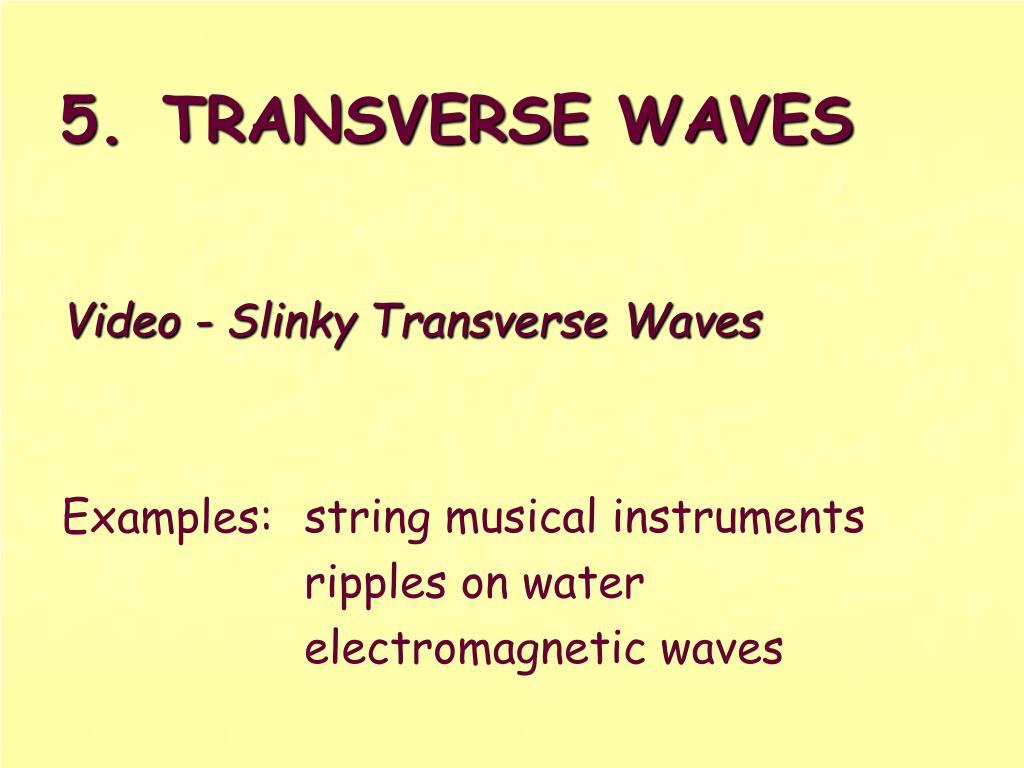 Video - Slinky Transverse Waves