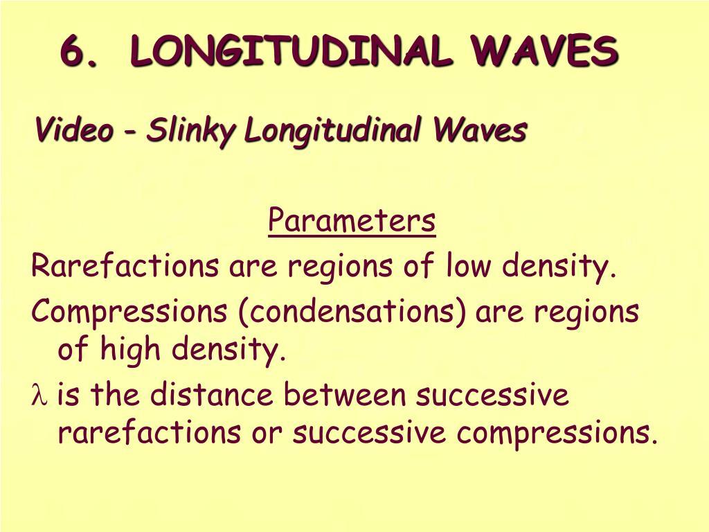 6.LONGITUDINAL WAVES