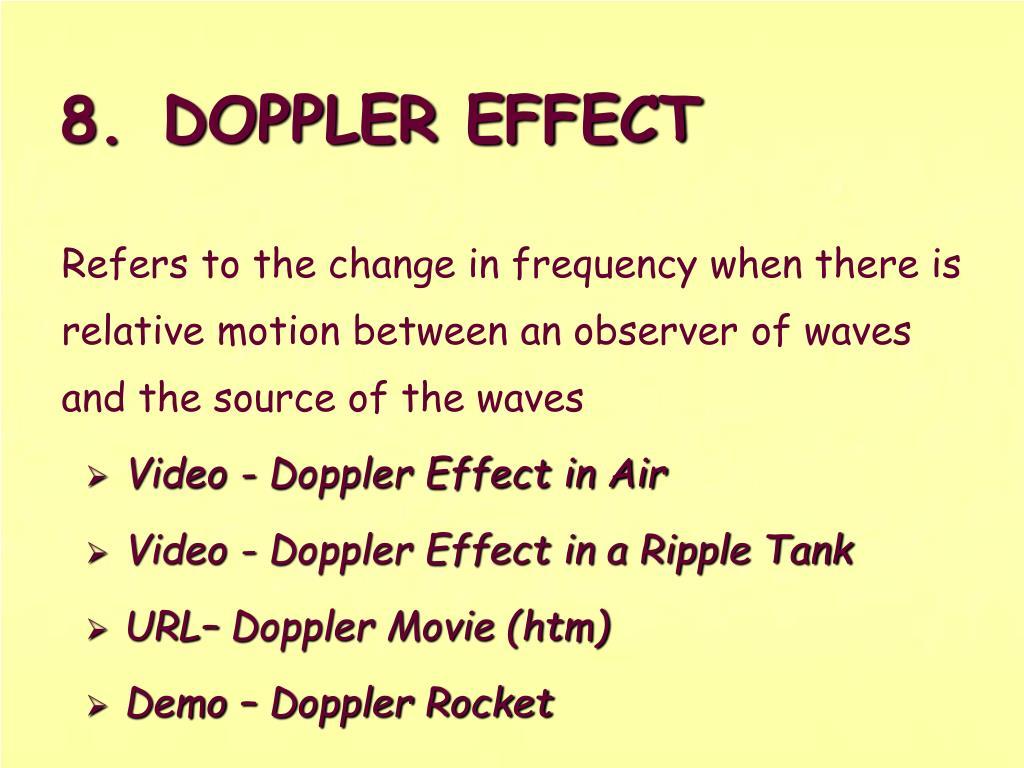 8.DOPPLER EFFECT