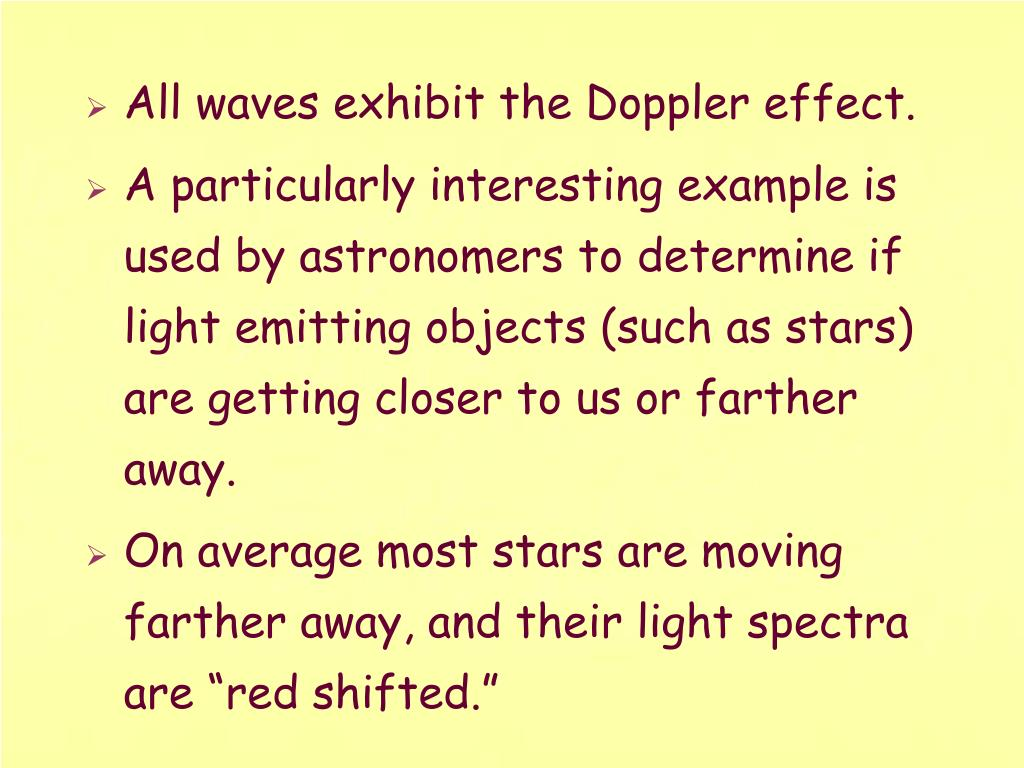All waves exhibit the Doppler effect.