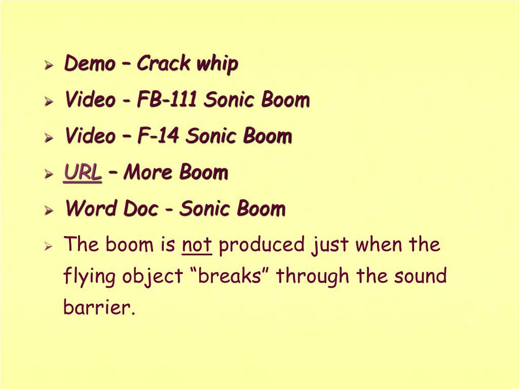Demo – Crack whip