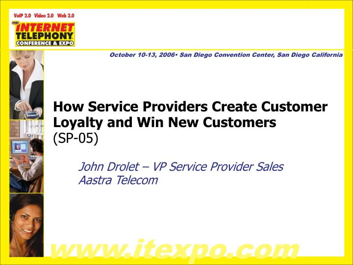 How service providers create customer loyalty and win new customers sp 05