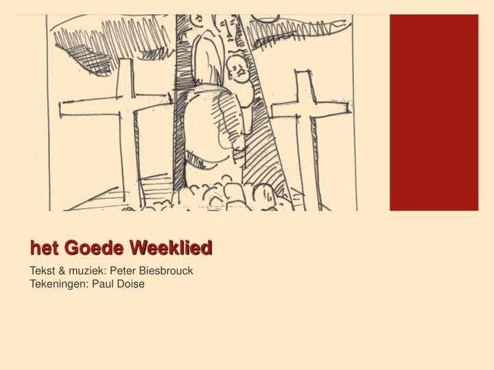 het Goede Weeklied