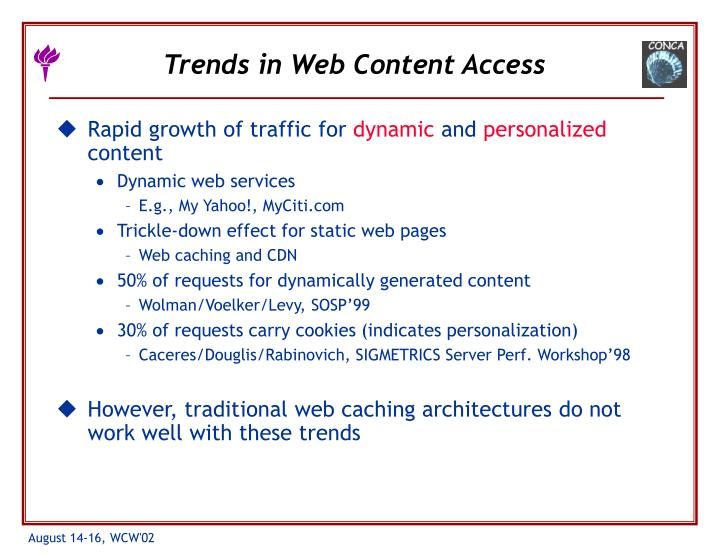 Trends in web content access