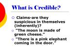 what is credible