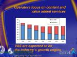 operators focus on content and value added services
