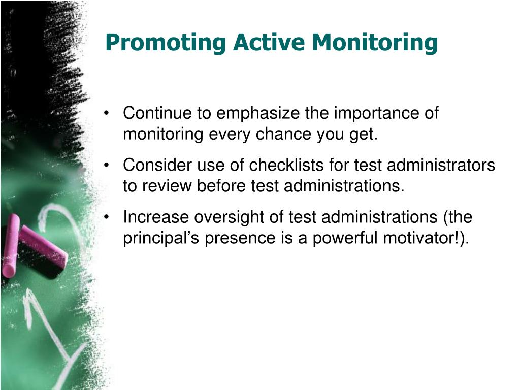 Promoting Active Monitoring