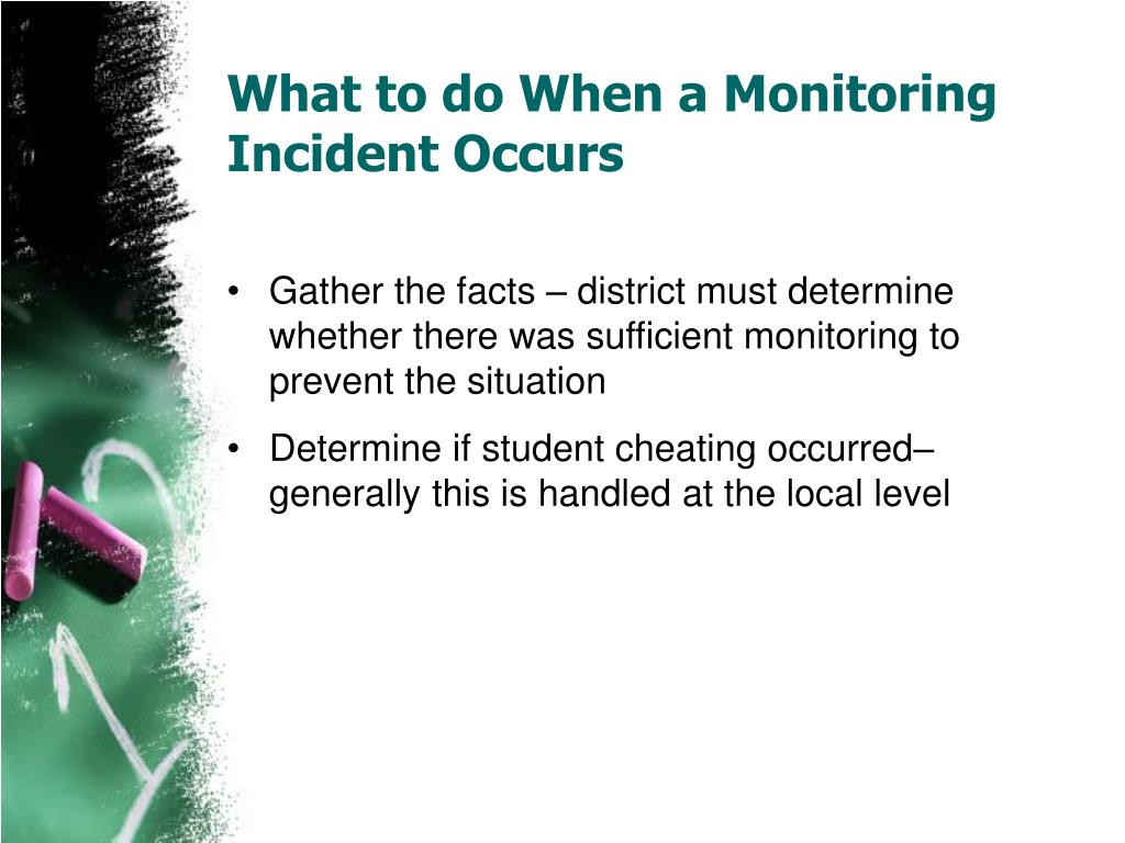 What to do When a Monitoring Incident Occurs