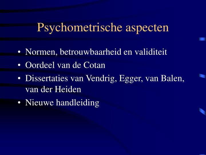 Psychometrische aspecten