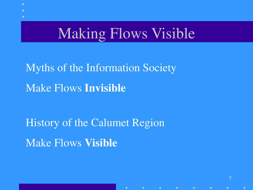 Making Flows Visible