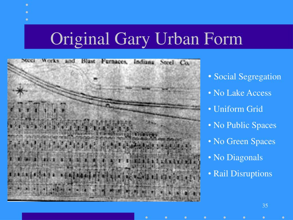 Original Gary Urban Form