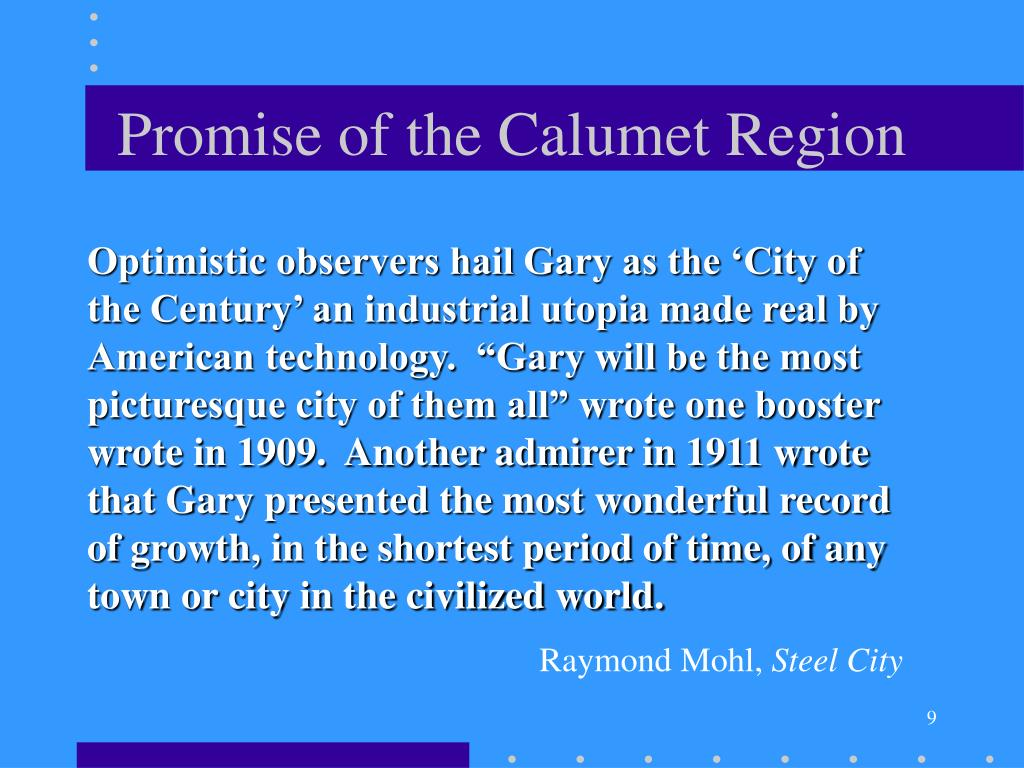 Promise of the Calumet Region