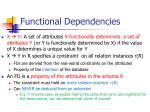 functional dependencies22