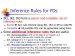 inference rules for fds26