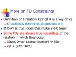 more on fd constraints