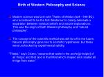 birth of western philosophy and science