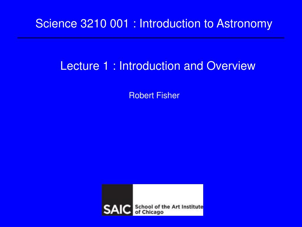 lecture 1 introduction and overview l.