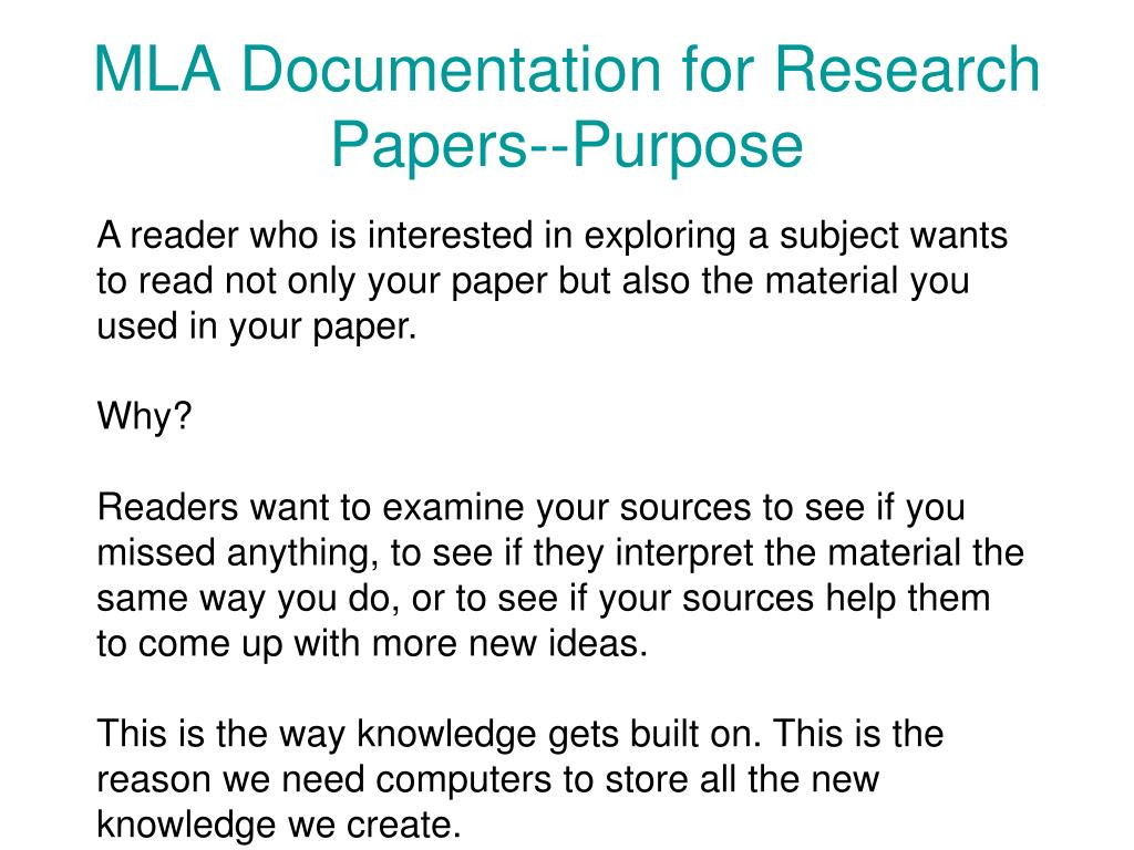 Documentation for research paper