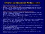 references and bibliographical web based sources