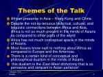 themes of the talk