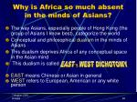 why is africa so much absent in the minds of asians