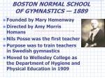 boston normal school of gymnastics 1889