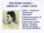 delphine hanna oberlin 1885 1920