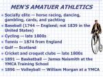 men s amatuer athletics
