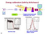 energy calibration talk by m achasov