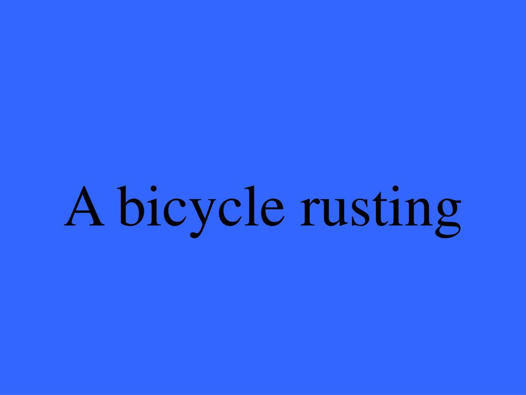 A bicycle rusting