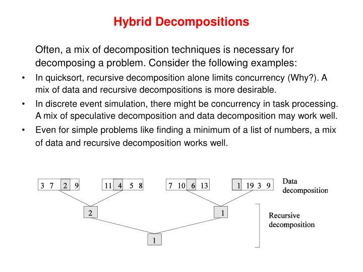 Hybrid Decompositions
