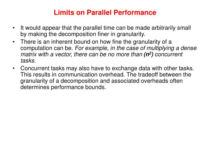 Limits on Parallel Performance