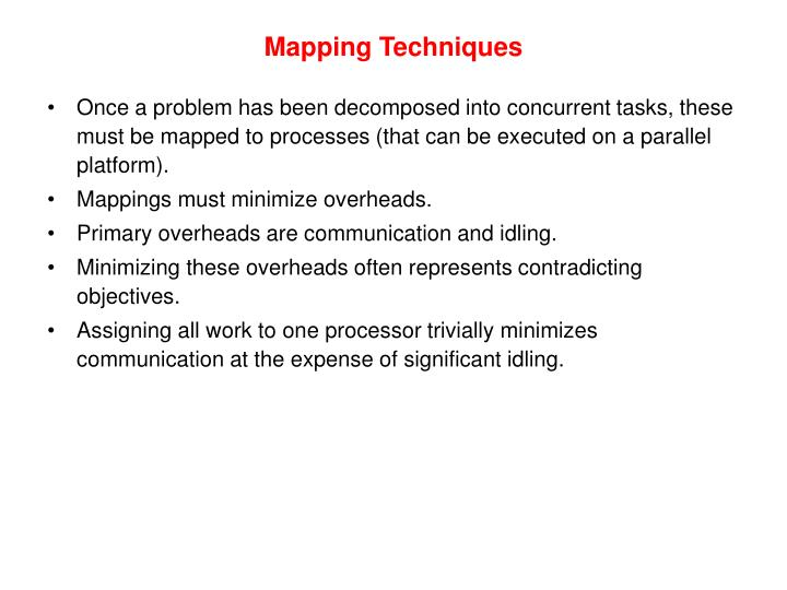 Mapping Techniques