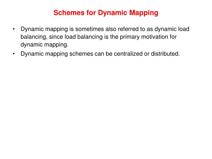 Schemes for Dynamic Mapping