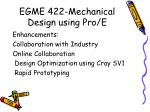 egme 422 mechanical design using pro e