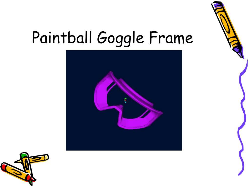 Paintball Goggle Frame