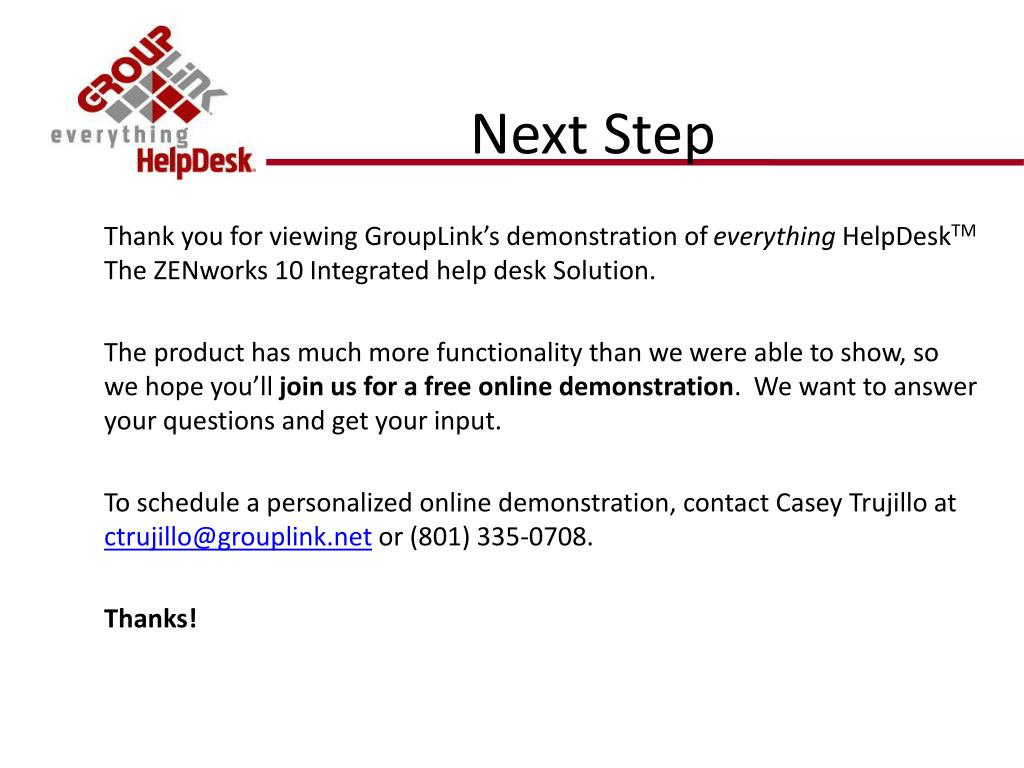 Thank you for viewing GroupLink's demonstration of