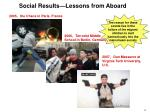 social results lessons from aboard